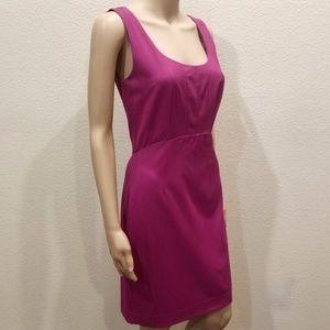 Ann Taylor Magenta Sleeveless Sheath Dress Size 2